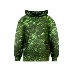 Bright Jade Green Jewelry Mother of Pearl Kids  Pullover Hoodie