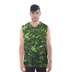 Bright Jade Green Jewelry Mother of Pearl Men s Basketball Tank Top