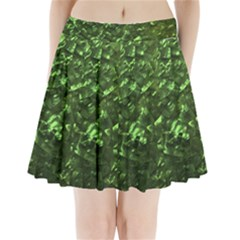 Bright Jade Green Jewelry Mother of Pearl Pleated Mini Skirt