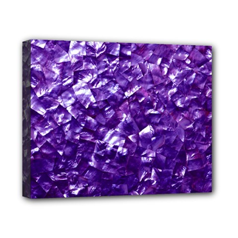 Natural Shimmering Purple Amethyst Mother of Pearl Nacre Canvas 10  x 8