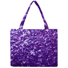 Natural Shimmering Purple Amethyst Mother of Pearl Nacre Mini Tote Bag