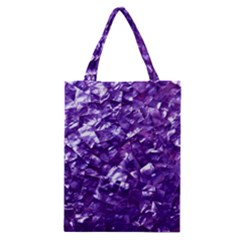 Natural Shimmering Purple Amethyst Mother of Pearl Nacre Classic Tote Bag