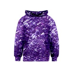 Natural Shimmering Purple Amethyst Mother of Pearl Nacre Kids  Pullover Hoodie