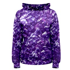 Natural Shimmering Purple Amethyst Mother of Pearl Nacre Women s Pullover Hoodie