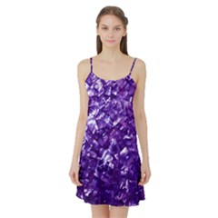 Natural Shimmering Purple Amethyst Mother of Pearl Nacre Satin Night Slip