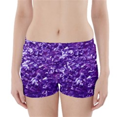 Natural Shimmering Purple Amethyst Mother of Pearl Nacre Boyleg Bikini Wrap Bottoms