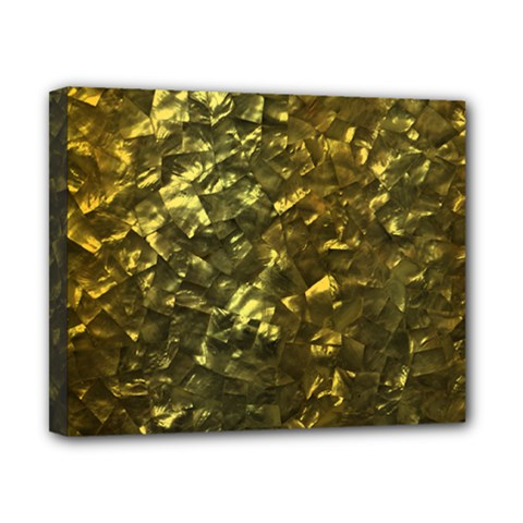 Bright Gold Mother of Pearl Nacre Pattern Canvas 10  x 8