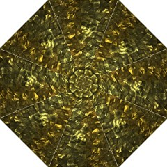 Bright Gold Mother of Pearl Nacre Pattern Folding Umbrellas