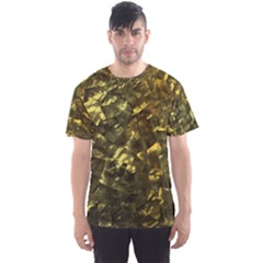 Bright Gold Mother of Pearl Nacre Pattern Men s Sports Mesh Tee