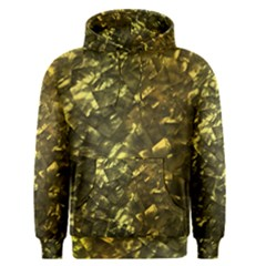 Bright Gold Mother of Pearl Nacre Pattern Men s Pullover Hoodie