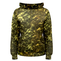 Bright Gold Mother of Pearl Nacre Pattern Women s Pullover Hoodie