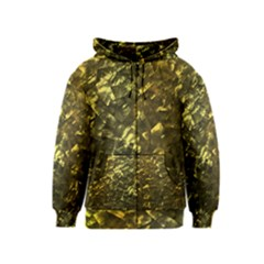 Bright Gold Mother of Pearl Nacre Pattern Kids  Zipper Hoodie