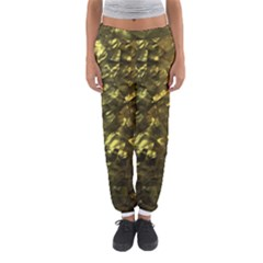 Bright Gold Mother of Pearl Nacre Pattern Women s Jogger Sweatpants