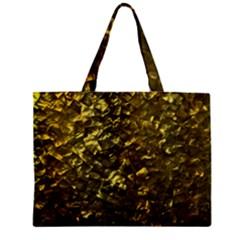 Bright Gold Mother of Pearl Nacre Pattern Zipper Mini Tote Bag