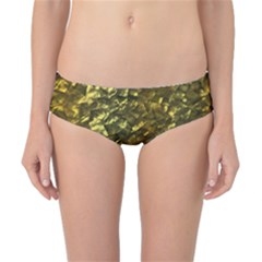 Bright Gold Mother of Pearl Nacre Pattern Classic Bikini Bottoms