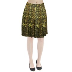 Bright Gold Mother of Pearl Nacre Pattern Pleated Skirt