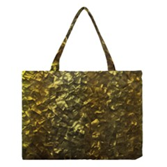 Bright Gold Mother Of Pearl Nacre Pattern Medium Tote Bag