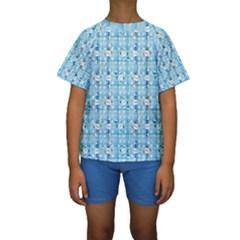 Geometric Pattern 213 C2 170408 Kids  Short Sleeve Swimwear