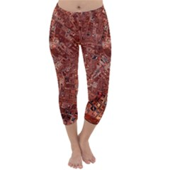 Melting Swirl A Capri Winter Leggings