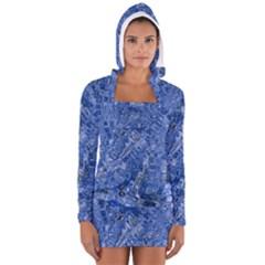 Melting Swirl C Women s Long Sleeve Hooded T-shirt