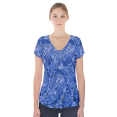 Melting Swirl C Short Sleeve Front Detail Top