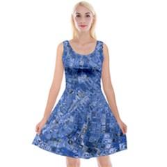 Melting Swirl C Reversible Velvet Sleeveless Dress