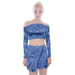 Melting Swirl C Off Shoulder Top with Skirt Set