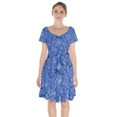 Melting Swirl C Short Sleeve Bardot Dress