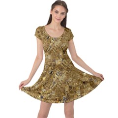 Melting Swirl E Cap Sleeve Dresses
