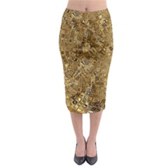Melting Swirl E Midi Pencil Skirt
