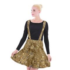 Melting Swirl E Suspender Skater Skirt