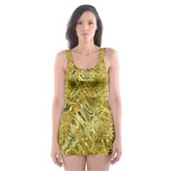 Melting Swirl F Skater Dress Swimsuit