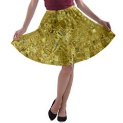 Melting Swirl F A-line Skater Skirt