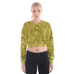 Melting Swirl F Cropped Sweatshirt