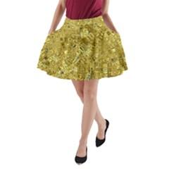 Melting Swirl F A-Line Pocket Skirt