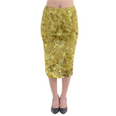 Melting Swirl F Midi Pencil Skirt