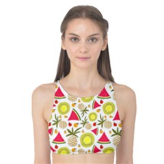 Summer Fruits Pattern Tank Bikini Top