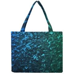 Ocean Blue and Aqua Mother of Pearl Nacre Pattern Mini Tote Bag