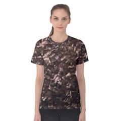 Glitter Rose Gold Shimmering Mother of Pearl Nacre Women s Cotton Tee