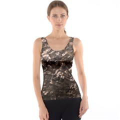Glitter Rose Gold Shimmering Mother of Pearl Nacre Tank Top