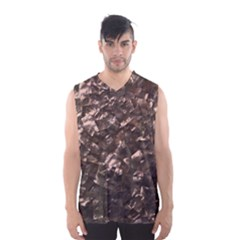 Glitter Rose Gold Shimmering Mother of Pearl Nacre Men s Basketball Tank Top