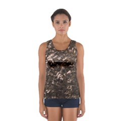 Glitter Rose Gold Shimmering Mother of Pearl Nacre Women s Sport Tank Top