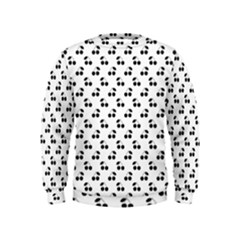 Black Cherries On White  Kids  Sweatshirt