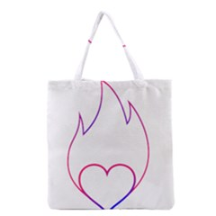 Heart Flame Logo Emblem Grocery Tote Bag