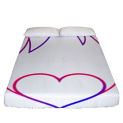 Heart Flame Logo Emblem Fitted Sheet (king Size)