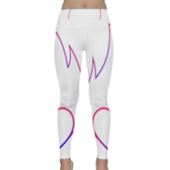 Heart Flame Logo Emblem Classic Yoga Leggings
