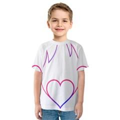 Heart Flame Logo Emblem Kids  Sport Mesh Tee
