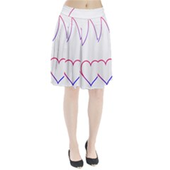 Heart Flame Logo Emblem Pleated Skirt