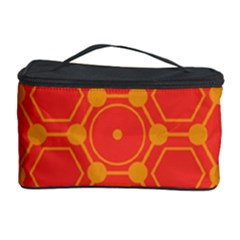Pentagon Cells Chemistry Yellow Cosmetic Storage Case