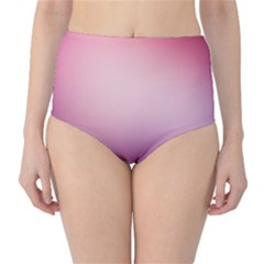 Background Blurry Template Pattern High Waist Bikini Bottoms